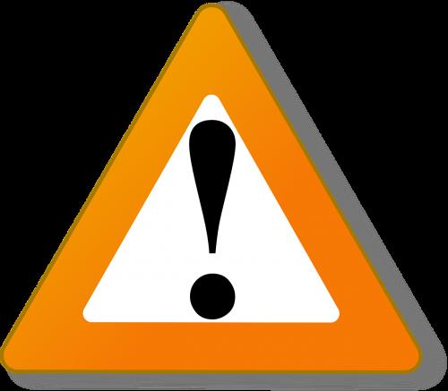 triangle warning orange