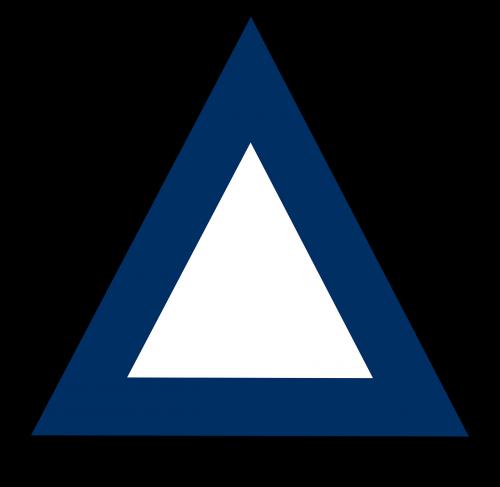 triangle three sided geometric shape
