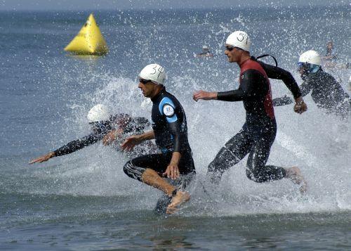 triathlon swimming phase grueling