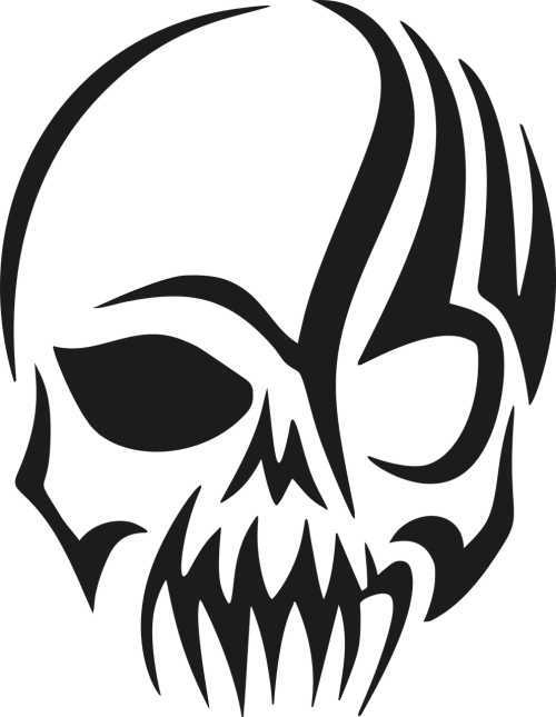 tribal skull head