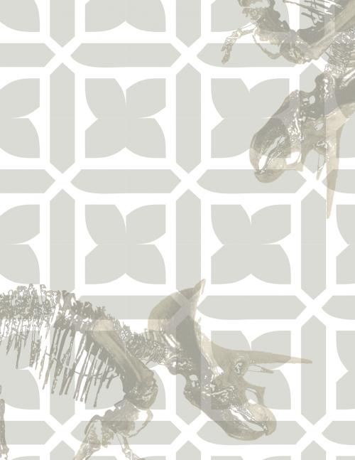 triceratops dinosaur floral