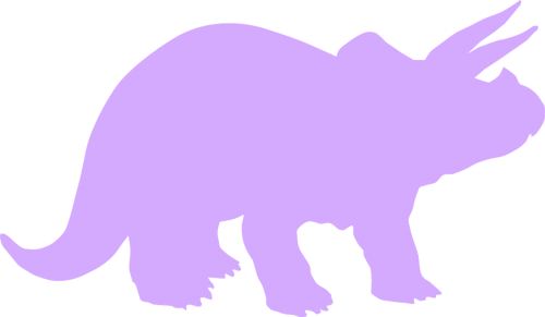triceratops dinosaur purple