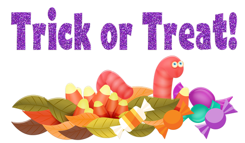 trick or treat  candy  gummy worm