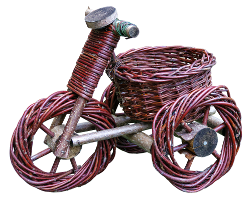 tricycle basket ware woven