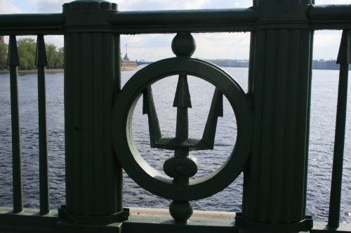 Trident Emblem On Bridge