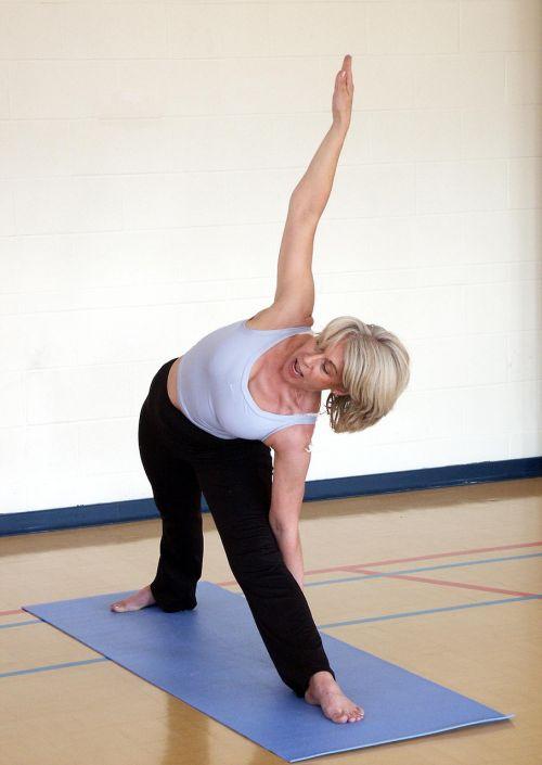 trikonasana triangle posture yoga
