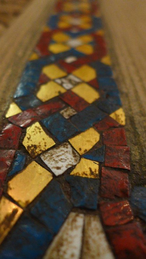 trim  mosaic  wall ornament