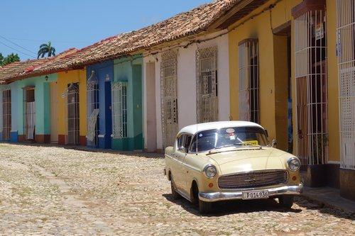 trinidad  cuba  classic car