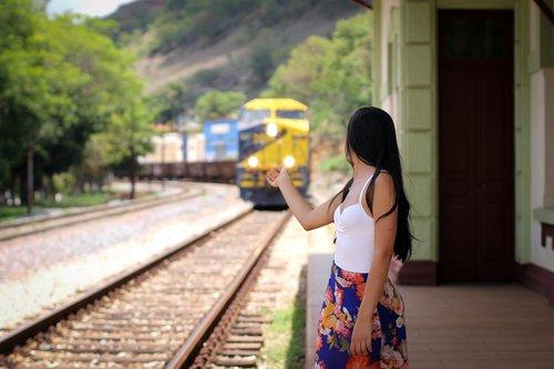 trip  woman  train