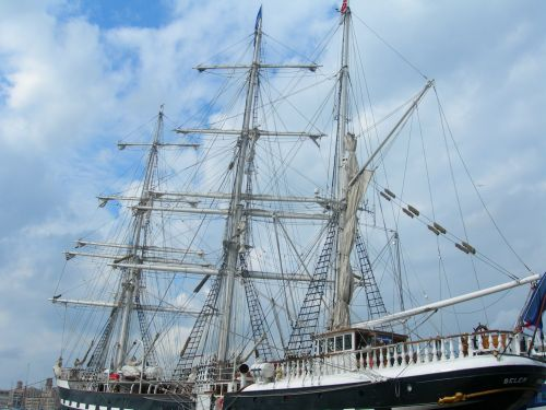 Three Masts, Port Of Marseille
