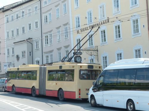 trolley bus bus traffic