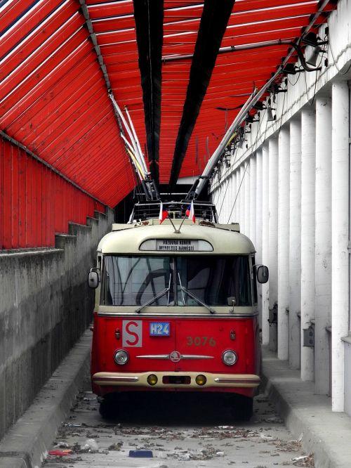trolleybuses depot transport