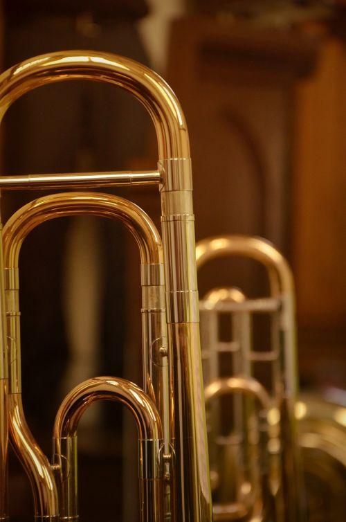 trombone trumpet close