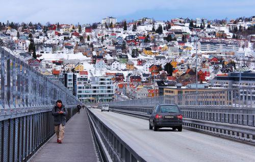 tromso bridge breathtaking scenic