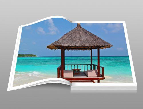 Tropical Beach Holiday Photo Book