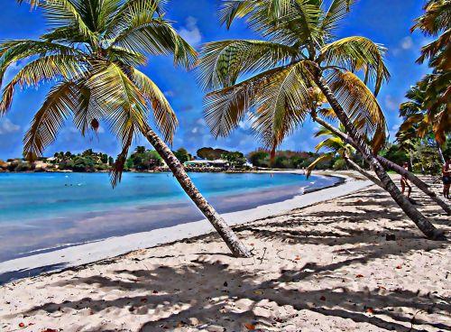 Tropical Beach Painting 1
