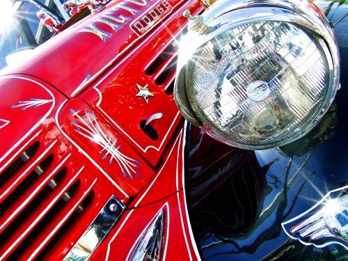 truck vintage truck red