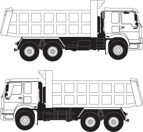 truck howo track vector