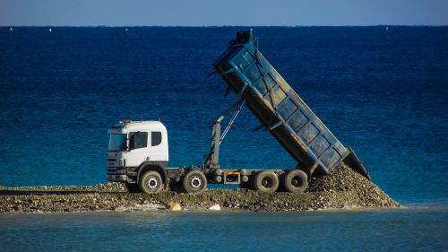 truck lorry unload