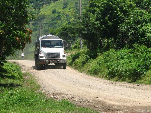 truck street rural