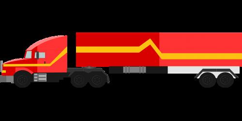 truck red 18-wheeler