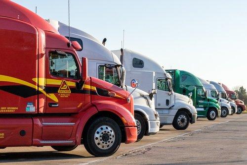 truck  semi  transportation