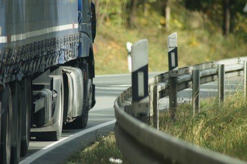 truck  road  guard rail