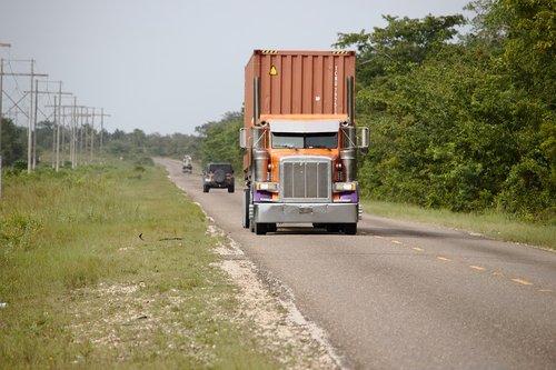 truck  semi  tractor