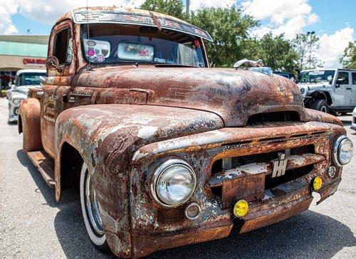 truck  pickup  rust