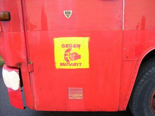 truck graffiti red