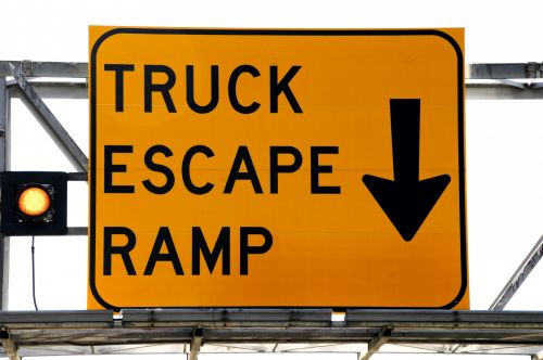 Truck Escape Ramp Sign
