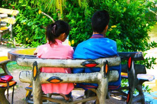 true love couple bench