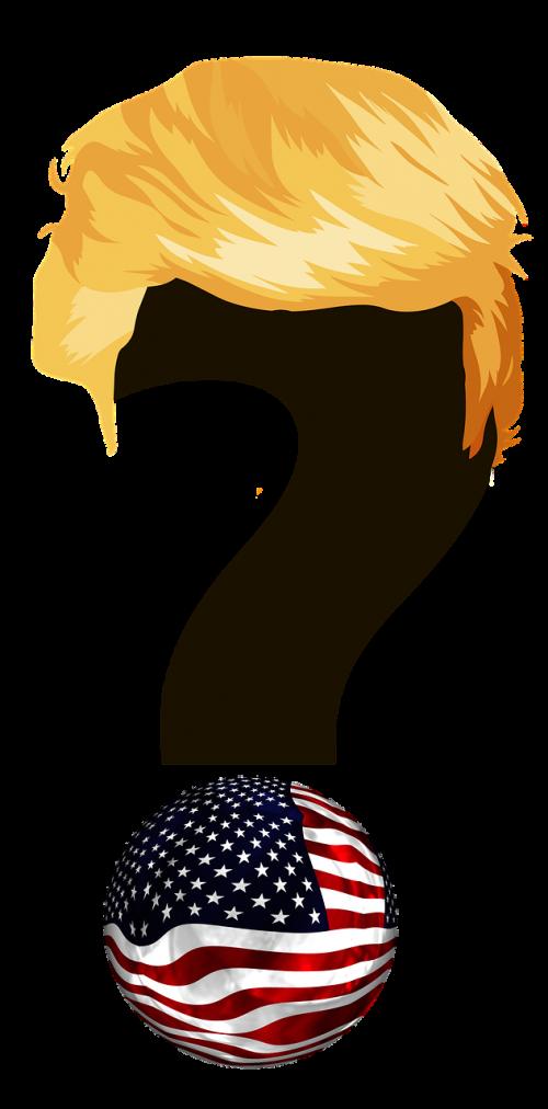 trump president question mark