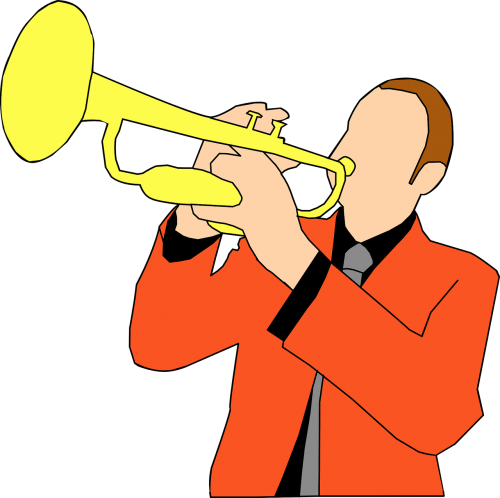 trumpet music player