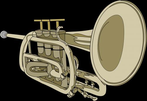 trumpet horn musical instrument