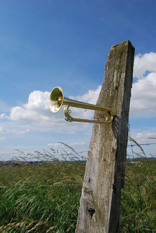 trumpet cavalry trumpet copper