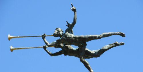 trumpeter sculpture ornaments
