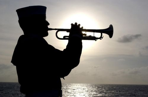 trumpeter sailor silhouette