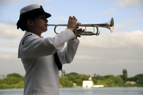 trumpeter playing performance