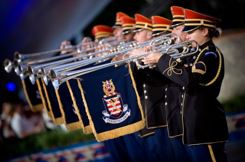 trumpeters heralds soldiers