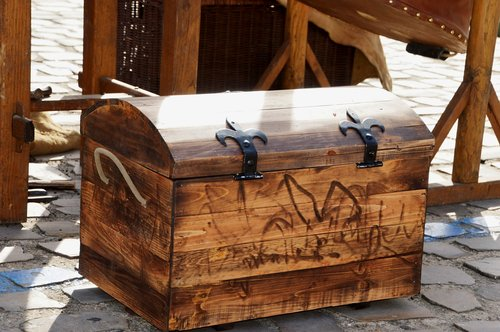 trunk  wood  box