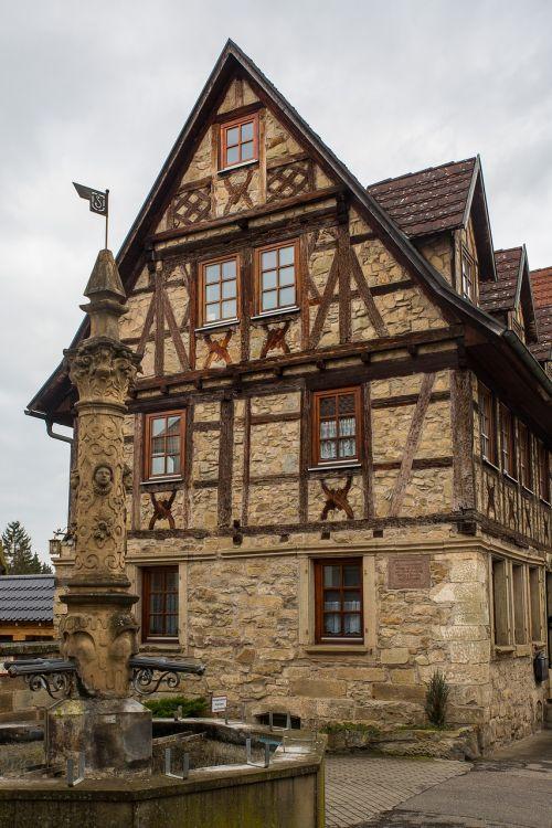 truss middle ages fachwerkhaus