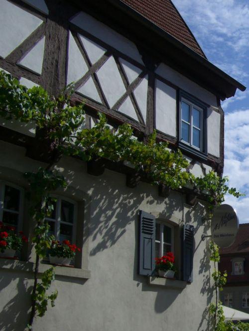 truss fachwerkhaus flower