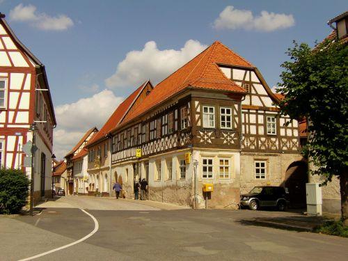 truss fachwerkhaus building