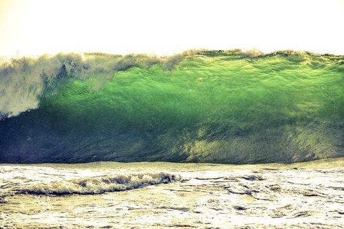 tsunami  wave  sea
