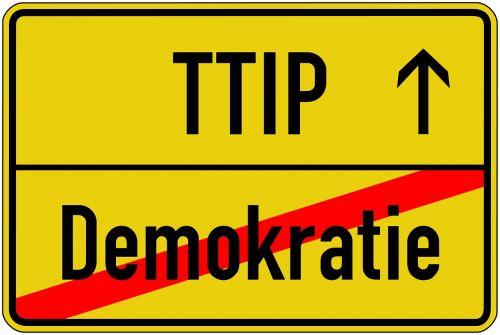 ttip demokratie demoschild