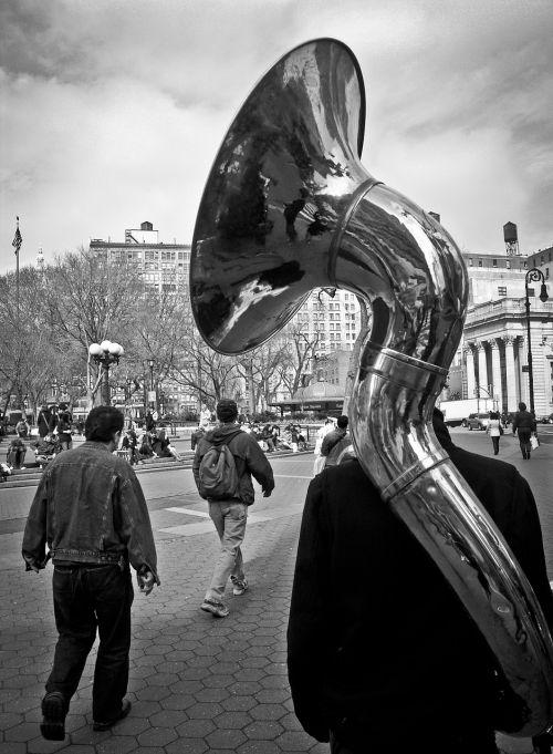 tuba wind instrument tube