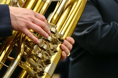tuba  brass band  musical instrument