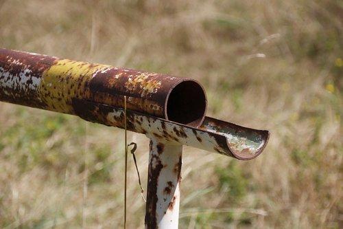 tube  rust  old
