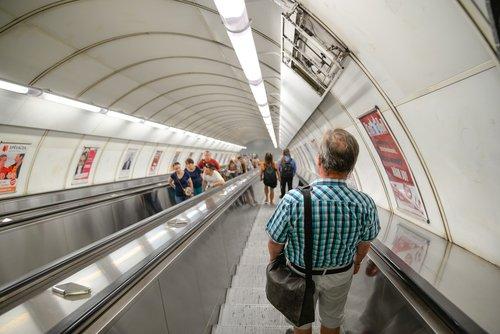 tube  subway  escalator